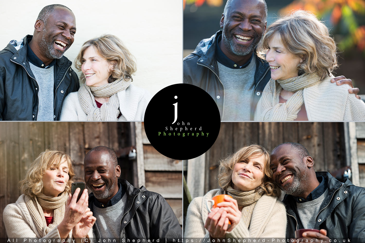 Mature Couple in an English country estate Lifestyle Stock photographs.