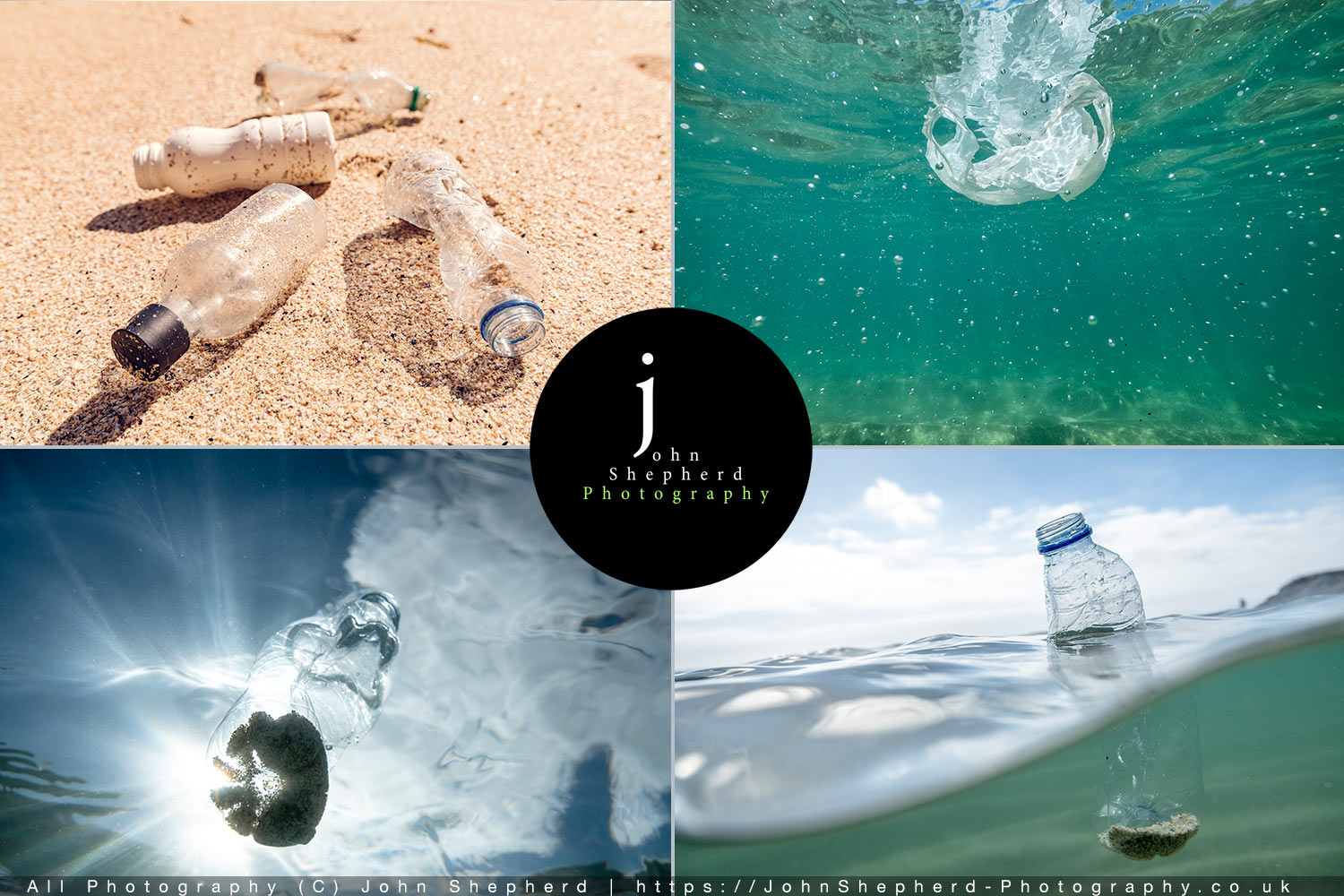 Plastic Pollution stock photographs.