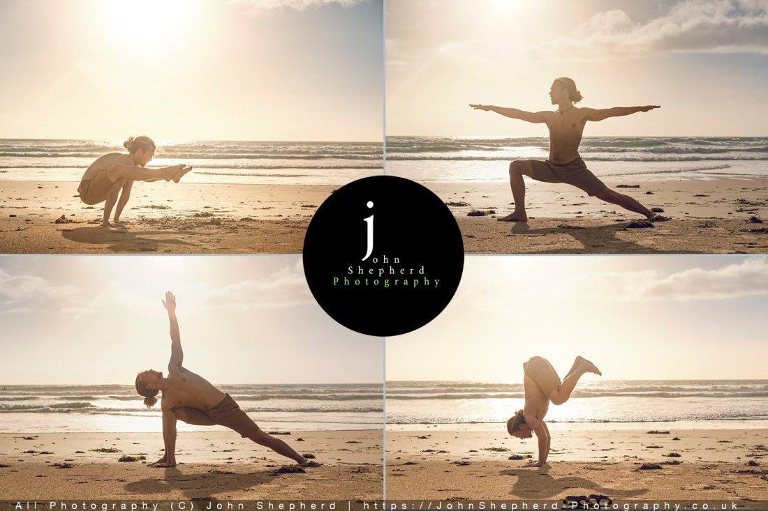 Beach yoga Lifestyle Photoshoot.